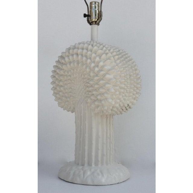 White John Dickinson Plaster Palm Cactus Lamp For Sale - Image 8 of 11
