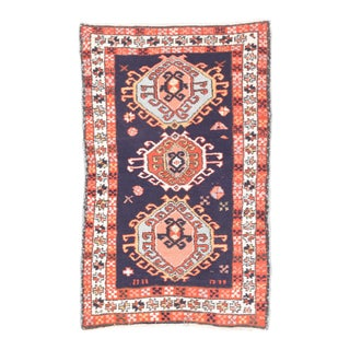 Hand Knotted Persian Karajeh Wool Rug For Sale