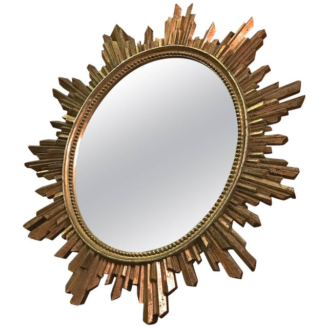 1960s Hollywood Regency Revival Giltwood Wall Mirror For Sale