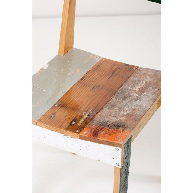 Set of Four Lacquered Oak Chairs in Scrapwood by Piet Hein Eek For Sale - Image 11 of 13