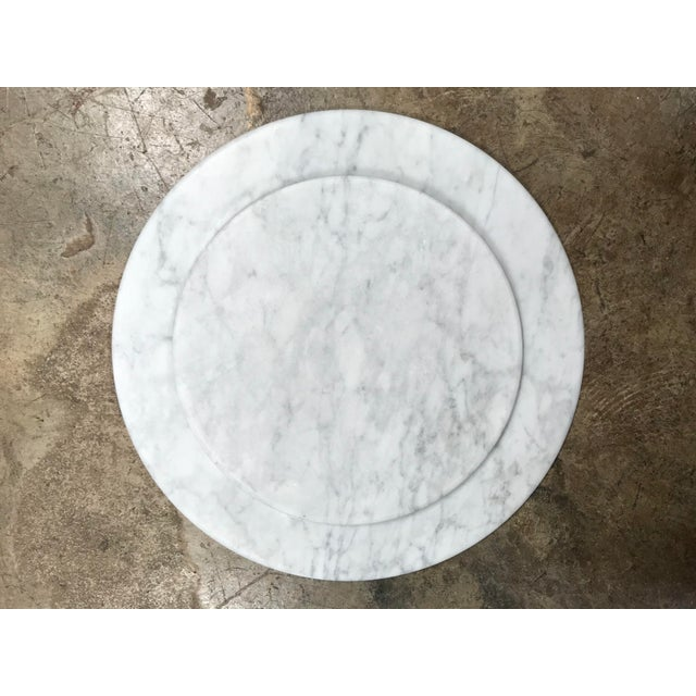 2010s Set of 8 Carrara Marble Dinner Plates or Plate, Italy For Sale - Image 5 of 8