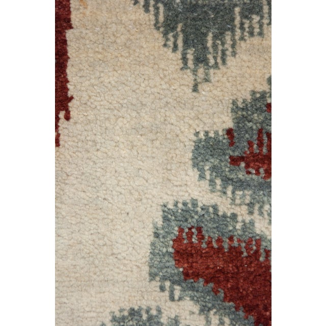 """New Ikat Hand Knotted Area Rug - 6'2"""" X 9'2"""" - Image 3 of 3"""
