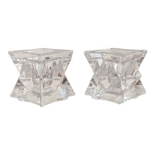 Crystal Star Candle Holder - a Pair For Sale