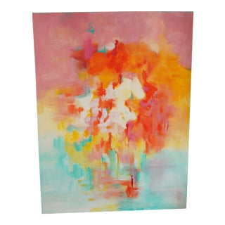 """Abstract Acrylic Painting """"Beginning Thoughts of You"""" by Jennifer Hopkins-Wilcox For Sale"""