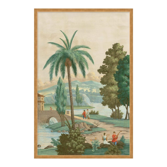 China Palm by Paul Montgomery in Gold Frame, Large Art Print For Sale