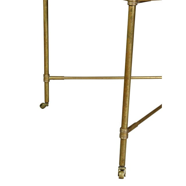 Directoire Style Brass and Leather Coffee Table For Sale In Boston - Image 6 of 10