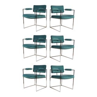Set of Six Dining Chairs Designed by Milo Baughman For Sale