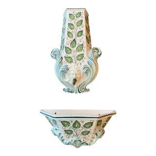 Mid Century Italian Ceramic Lavabo Fountain For Sale