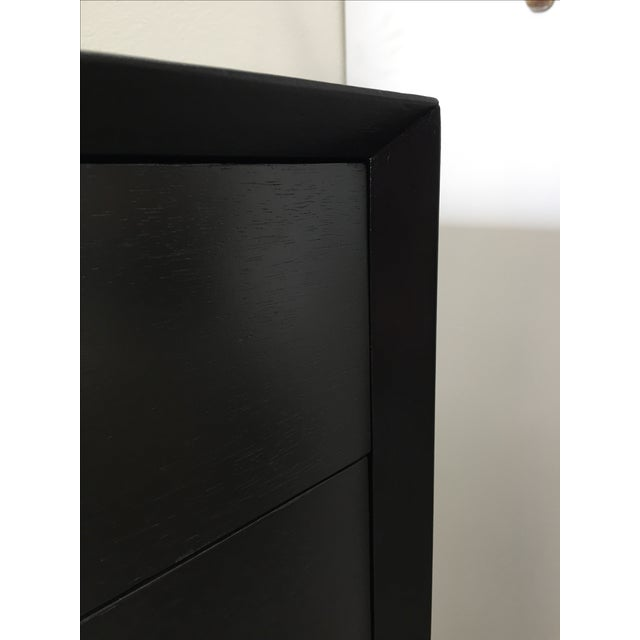 Modern Ebonized Tall Dresser with Solid Brass Hardware For Sale - Image 3 of 10