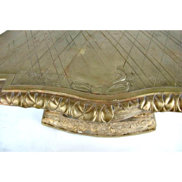18th Century French Louis XVI Period Carved Giltwood Alter Pedestal For Sale - Image 4 of 10