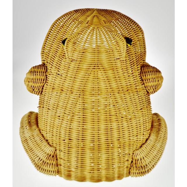 Vintage Natural Wicker Frog Planter Basket For Sale - Image 11 of 13