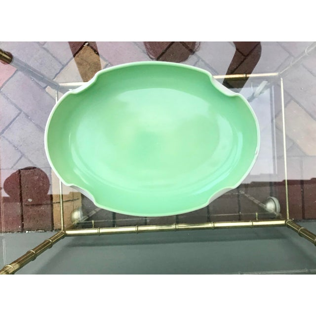 Vintage Mid-Century Mint Green Ceramic Quatrefoil Tray or Dish For Sale - Image 13 of 13