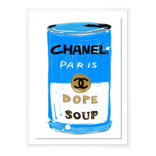 Chanel Dope Soup by Annie Naranian in White Frame, Medium Art Print For Sale