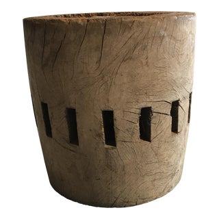 Vintage Wooden Cog Drum