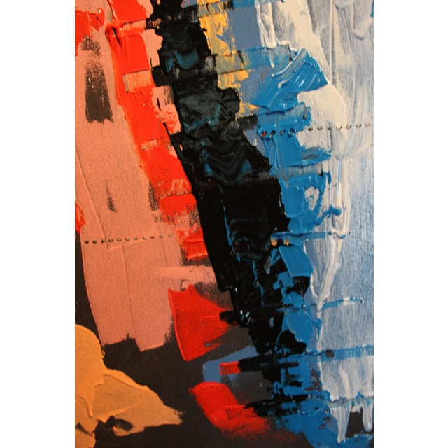 """Blink"" Abstract Acrylic Painting For Sale - Image 5 of 9"