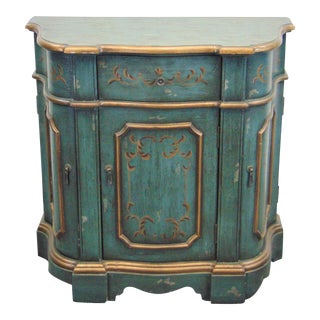 Italain Florentine Painted Console Cabinet For Sale