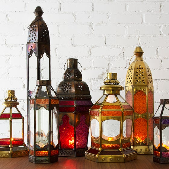 """This candleholder is inspired by Morocco and hand-made in Bali. The seller says: """"We spent hours creating color..."""