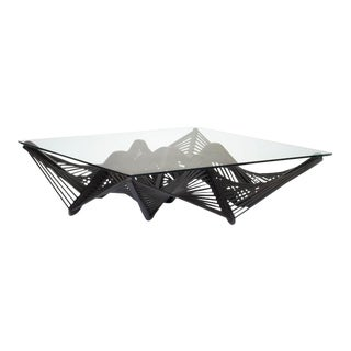 Geo Coffee Table, Dark Brown For Sale