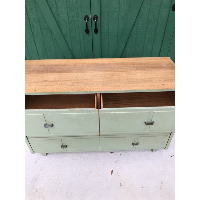 1960s Antique Primitive-Style Six Drawer Dresser For Sale - Image 5 of 13