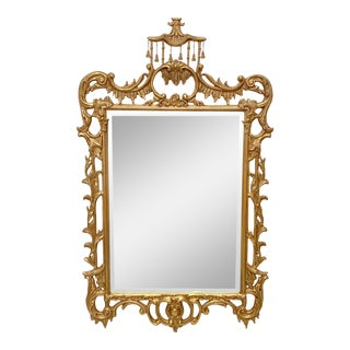 Friedman Bros. Chippendale Style Giltwood Mirror For Sale