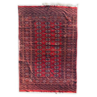 Antique Pak Bokhara Persian Pakistan Rug - 5' X 8' For Sale