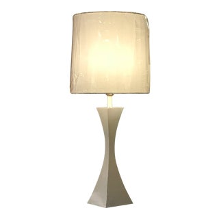 Mutual Sunset Modern White Aluminum Lamp For Sale