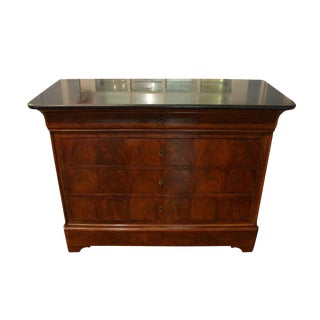 Louis Philippe Marble Top Mahogany Commode For Sale