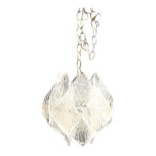 1970s Lucite Pendant Chandelier For Sale
