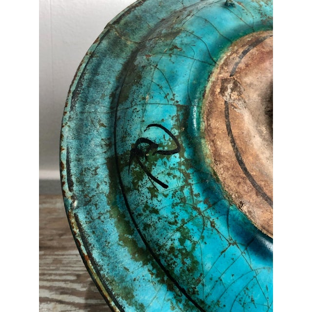 15th Century & Earlier Kushan Turquoise Plate For Sale - Image 5 of 10