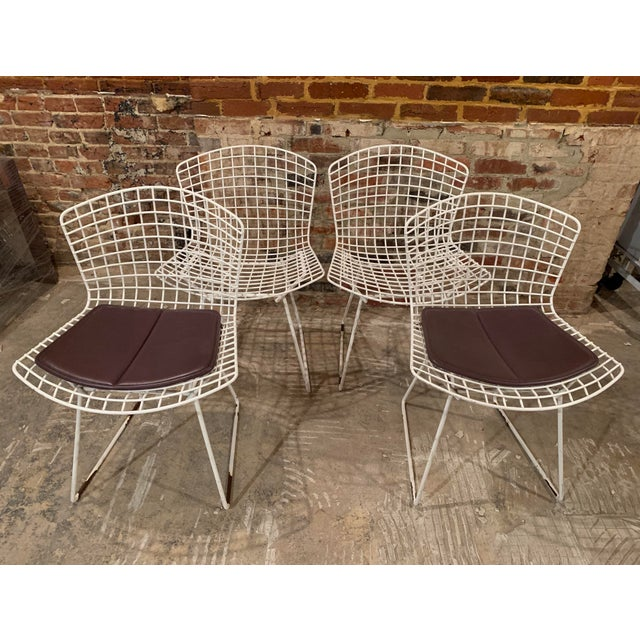 Vintage Mid Century Knoll Bertoia White Side Chairs - Set of 4 For Sale - Image 13 of 13