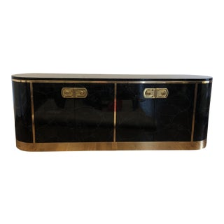 1970s Art Deco Mastercraft Sideboard For Sale