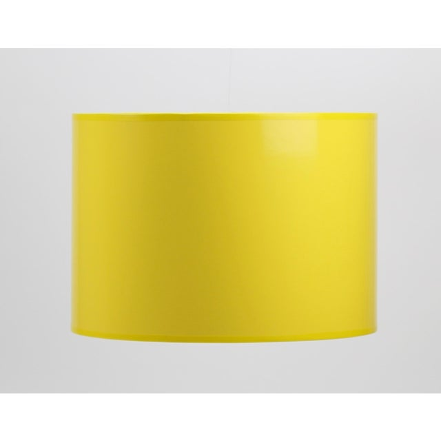 Metal High Gloss Yellow Drum Lamp Shade For Sale - Image 7 of 7