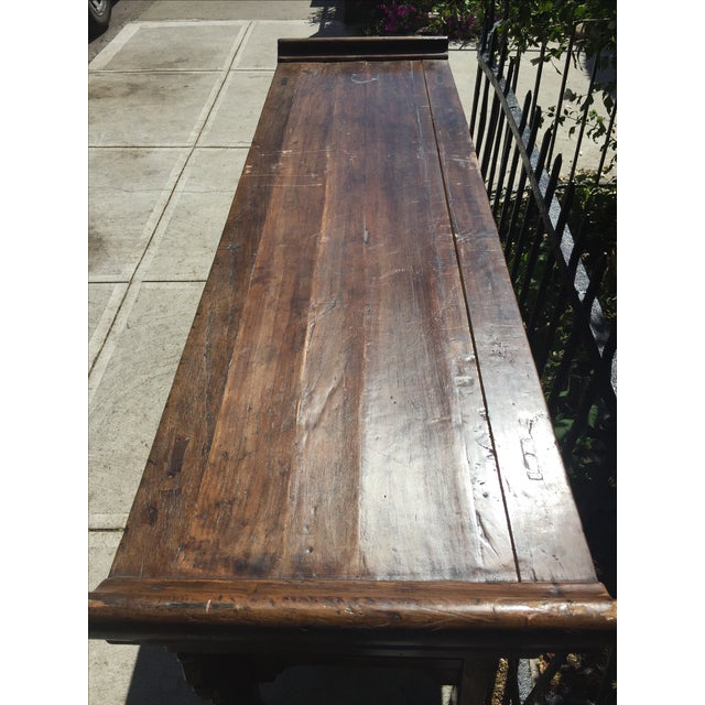 Antique Carved Wood Console - Image 8 of 10
