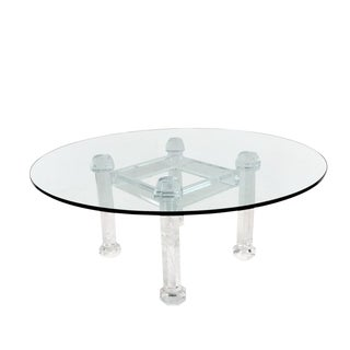 Prismatic Lucite Dining Table by Allan Knight For Sale
