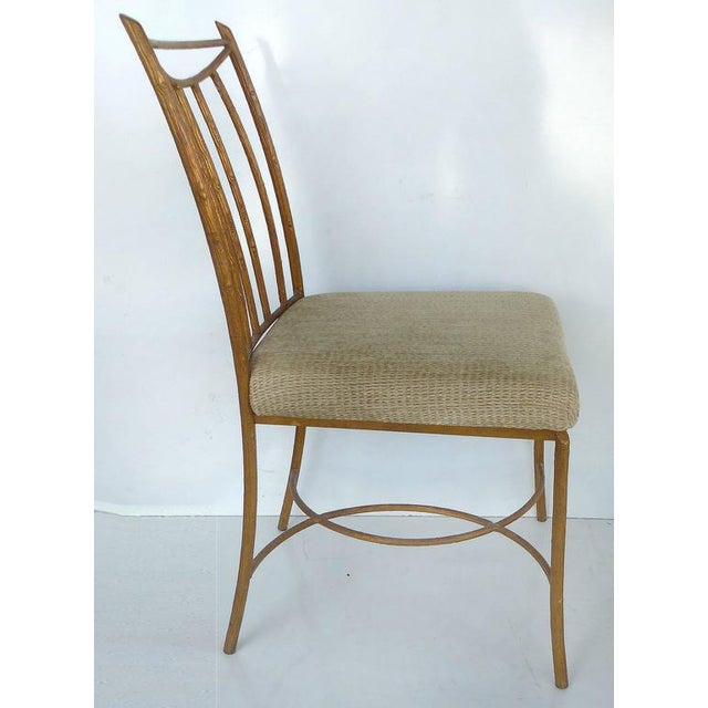 Mid-Century Modern Mid-Century Gilt Iron Faux-Bois Desk Chair by Swaim For Sale - Image 3 of 10