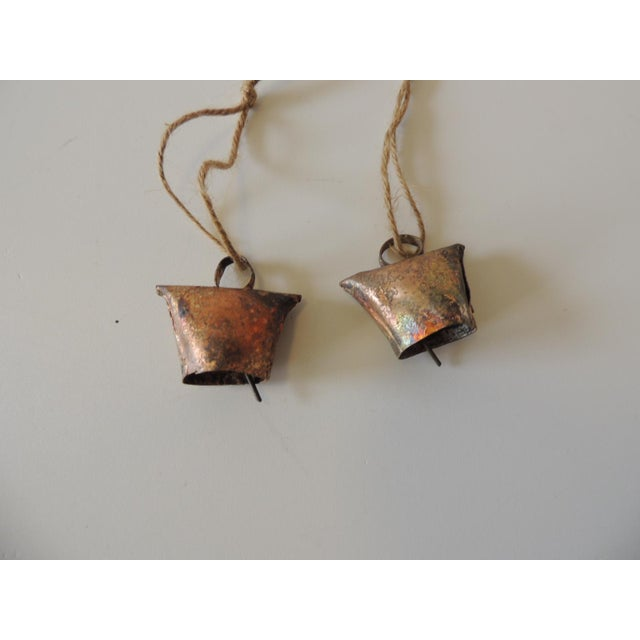Pair of Gold Leaf Iron Indian Holiday Christmas Tree Ornaments For Sale - Image 4 of 5