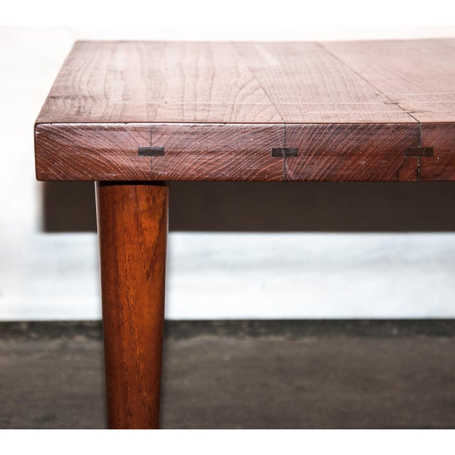 Circa 1960, Denmark, J. Schmidt Inlaid Rosewood and Teak Side Table For Sale - Image 4 of 9