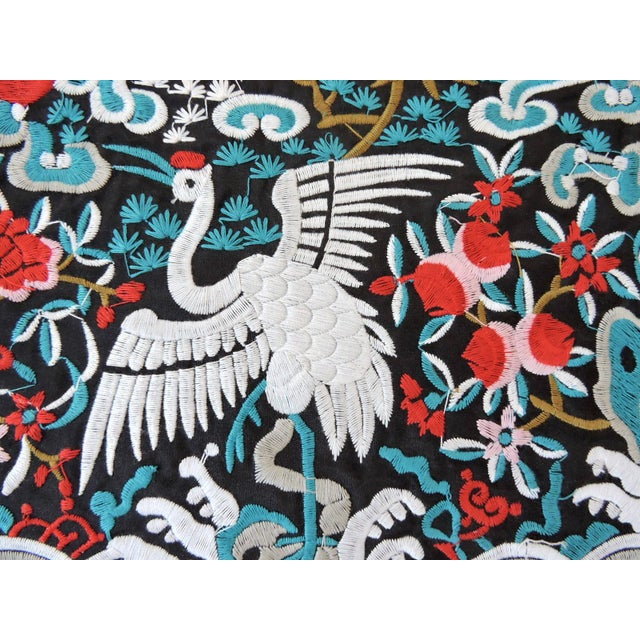 Oriental embroidered square mat for your objects to rest on such as vases, plates, ornaments or lamps - can also be...