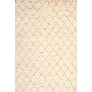 """Pasargad N Y Moroccan Hand-Knotted Rug- 6′1"""" × 9′ For Sale"""