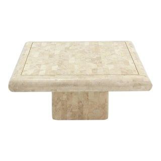 Vintage Mid Century Tessellated Stone Tile Coffee Table For Sale