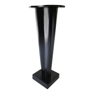 Free-Form Black Lacquer Pedestal For Sale