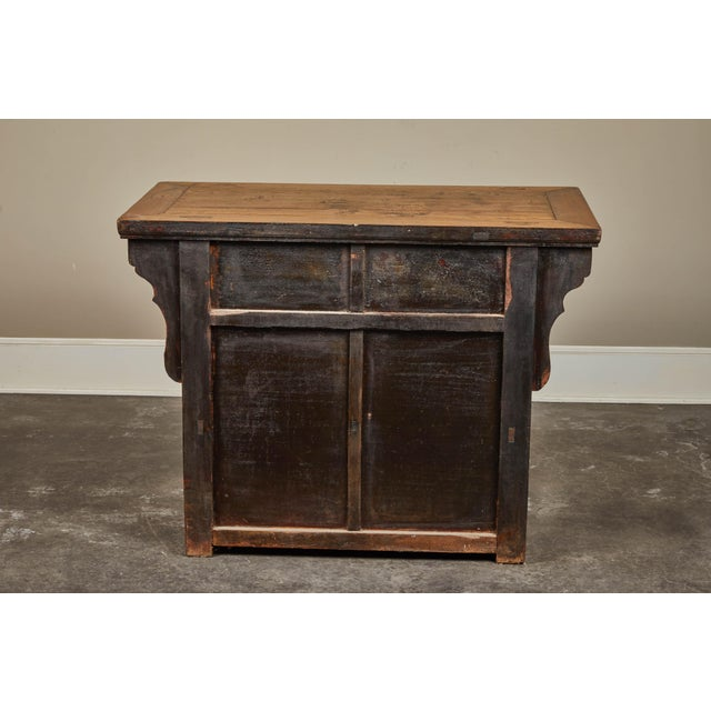 19th C. Chinese Elm Altar Cabinet For Sale - Image 4 of 11