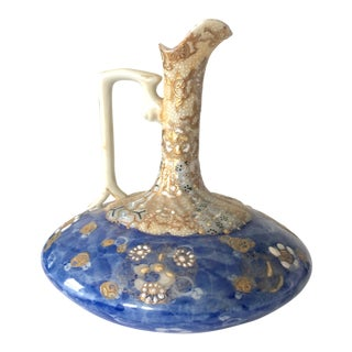 1950s Vintage Nippon Hand-Painted Porcelain Pitcher For Sale