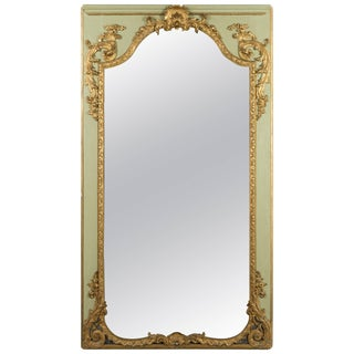 18th Century Louis XVI French Trumeau Mirror For Sale