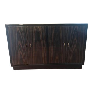 Henredon Scene 3 Macassar Ebony and Black Lacquer Sideboard For Sale