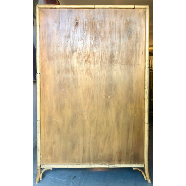 Vintage Rattan Burnt Bamboo Armoire For Sale In Miami - Image 6 of 13