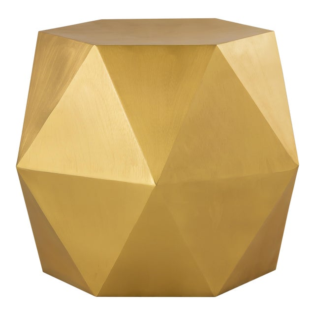 Pasargad Home Lexi Side Table - Brass For Sale