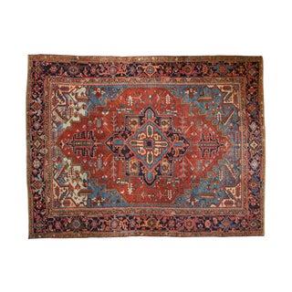 "Vintage Heriz Carpet - 7'4"" X 9'7"" For Sale"