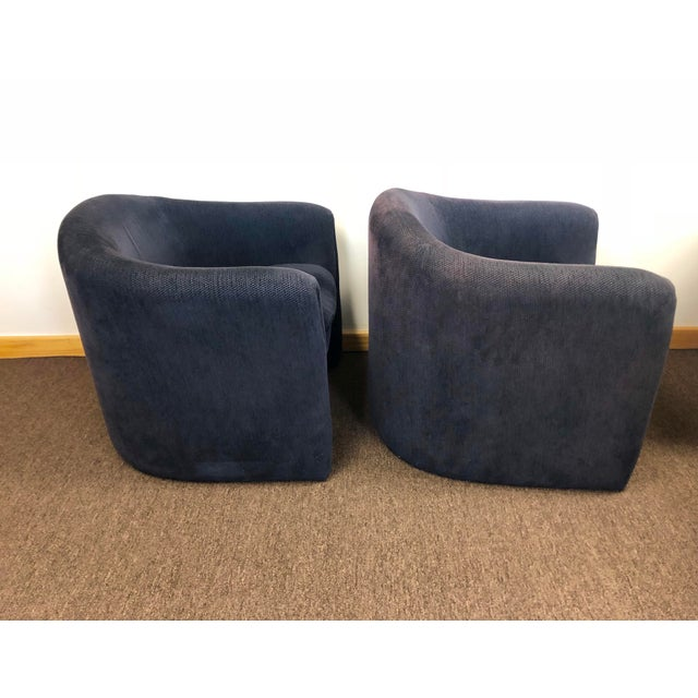 1990s 1990s Vladimir Kagan for Preview Biomorphic Freeform Armchairs - a Pair For Sale - Image 5 of 8