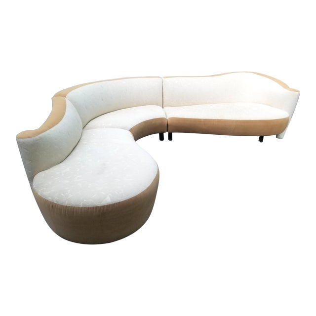 Serpentine Sectional Sofa by Vladimir Kagan for Weiman For Sale